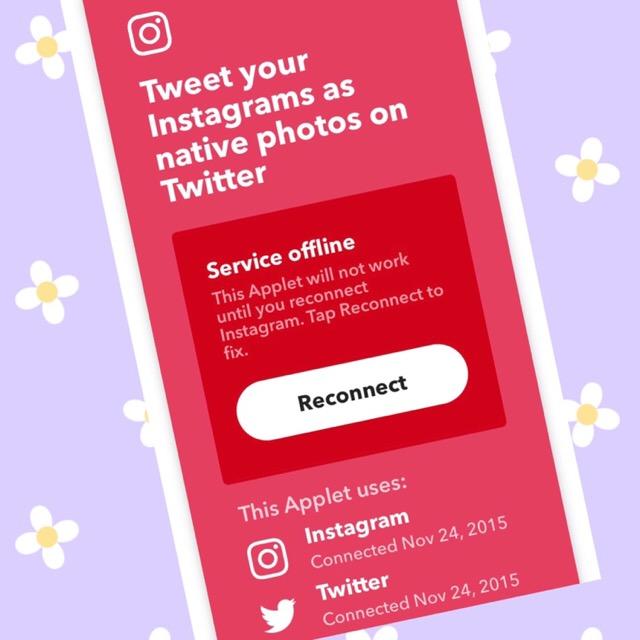 Instagram或いはIFTTTの不具合か、認証が通らない
